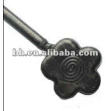 Haste de cortina de metal de flor preta, gancho de suspensão de alumínio de piscina