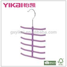 Rubber lacquer ABS hanger for tie