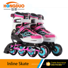 patines de hielo de cuero / rodillo con la rueda que destella