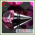 Presente de cristal do presente do presente de casamento o mais atrasado Projeto Crystal Wine Stopper