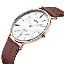 Venda quente preço direto da fábrica ultra fina de aço inoxidável relógio de pulso à prova d 'água para homens