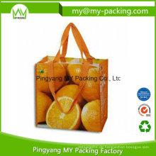 Dauerhafte Verpackung, die pp. Gesponnene Einkaufstaschen für Förderung druckt