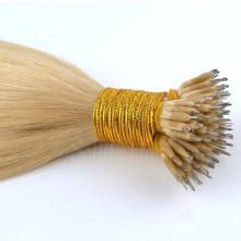 Nenhum derramamento emaranhado Livre peruano remy humano virgem nano peruca de cabelo