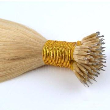 No Shedding Tangle Free peruvian remy human virgin nano hair wig