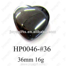 Hematite 36MM Heart Pendants