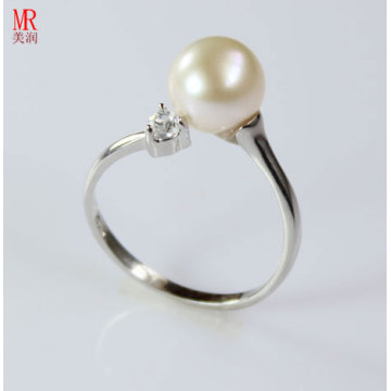 Fresh Water Fashion Silver Pearl Ring (ER1609)