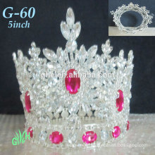 New Wholesale Yiwu Tiara Pink Mini Crown The Entire Round