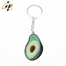 Wholesale zinc alloy custom enamel paint metal fruit keychains