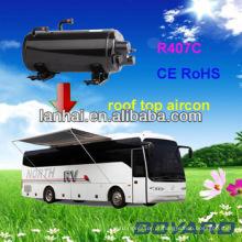 CE RoHS Auto Ar Condicionado Compressor Horizontal Rotativo para RV Caravan Ar Condicionado condicionador de ar portátil mini tenda