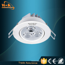 Empotrable redondo LED Lámparas de techo con luz blanca muda alta