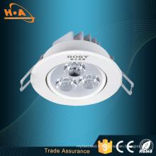 Plafonniers ronds enfoncés de LED avec la lumière élevée blanche muette