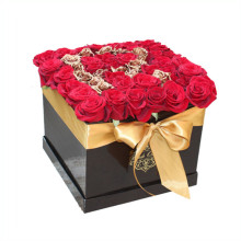 Square Roses Box Packaging Caja de papel de flores