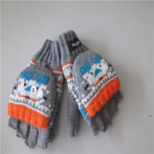 men's Knitted Gloves with Jacquard Weave