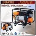 GF10-Gawa Gasolina 4 en 1 máquina para el cargador de batería, soldador, generador, compresor de aire.