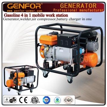 100%銅溶接機、発電機、エアコンプレッサー、バッテリーチャージャー4 in 1 Machine