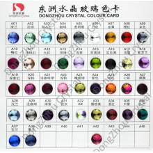 Tarjeta del color: Piedra cristalina de la parte posterior plana para la decoración de la joyería / de la ropa