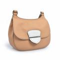 Medium Front Flap Bag Fold Over Purse Leather
