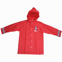 Girl's Red Plastic Raincoat