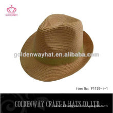 New arrival cheap paper Fedora hat
