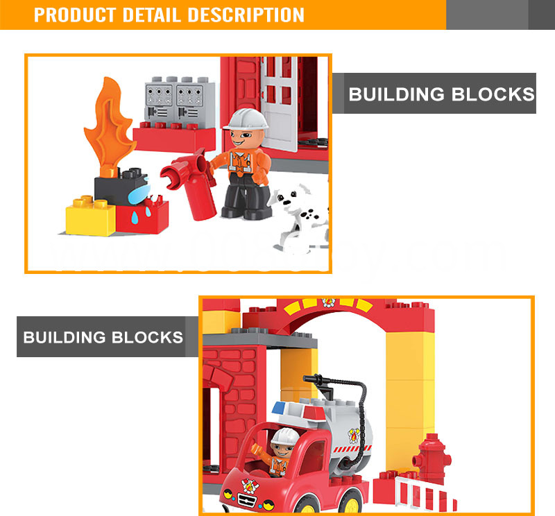 Toy Fire Brigade Abs Plastic Block