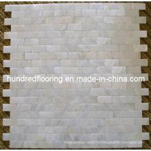 Белая перламутровая мозаичная плитка (HMP71)