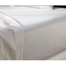 Deluxe 100% Cotton Satin Fitted Sheet for Star Hotel and Home (DPFB8053)