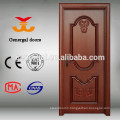 CE approved interior using veneer laminated painting color wooden door
