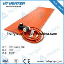 Elemento calefactor de caucho de silicona flexible