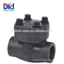 A fábrica de alta pressão de China 150 800 Pornd forja o forjamento A105 válvula de verificação de aço forjada 1 2