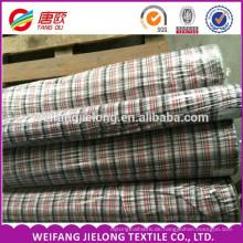 Mode Kleider Textile Stoff Hohe Qualität 100% Baumwolle Garn gefärbt Shirting Stoff 100% Baumwolle Herren Streifen Plaid Garn gefärbt Shirt
