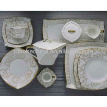 new square shape Middle East Islamic bone china ceramic porcelain plates