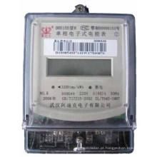 Medidor eletrônico esperto da energia / poder / quilowatt da energia da única fase (DDS150)