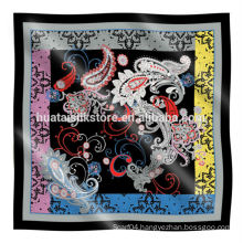 Cheap square silk scarf in high quality for wholesale