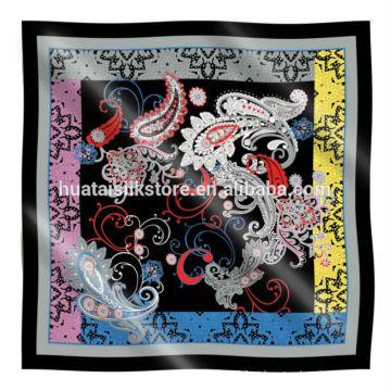 Cheap quadrados lenço de seda em alta qualidade para atacado