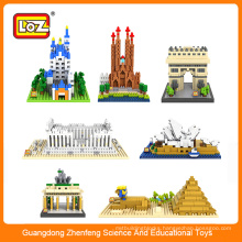 LOZ architectural blocks for kids,kids assembling toys
