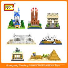 Brinquedo chinês fabricantes / plástico LOZ arquitetônico bloco de construção brinquedo tijolo