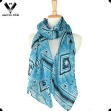 Мода дешевые летние тонкие 100 полиэстер шарф