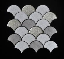 Setor cinza forma parede decoração mosaico