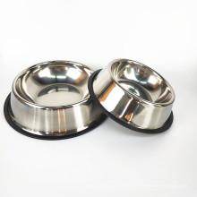Кормушки из нержавеющей стали Non Slip миски для собак Чаша для воды и пищи для кошек и собак