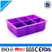 Bandeja de cubos de hielo de silicona duradera etiquetado privado