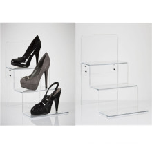 Acrylic Stepped Shoes Display/3 Tiers Acrylic Display Rack (AD-007)