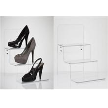 Acrylic Stepped Shoes Display/3 Tiers Acrylic Display Rack (AD-007)