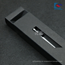 Luxusschwarzpapierverpackungsfachkasten für Füllfederhalter