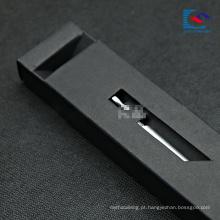caixa preta luxuosa da gaveta do empacotamento de papel para a pena de fonte
