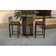 Rattan Conservatory Furniture , Outdoor Garden Table And Ch