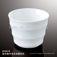 Japan style good quality chinese modern line porcelain tea cup&saucer