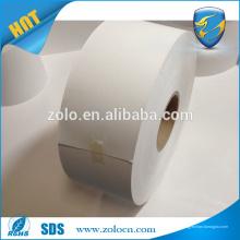 Blank eggshell paper roll material para zebra impresión ropa venta sellado
