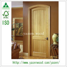 Factory Popular Knotty Interior Pine Wooden Door