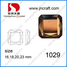 Rhinestone de cristal de espejo cuadrado multicolor para adorno de collar