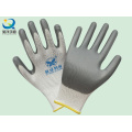 En388 Polyester Shell Nitrile Coated Protective Safety Work Glove (N6007)